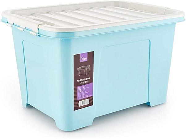 HX Cajas almacenaje Ropa Grandes de Almacenamiento de 100 litros, Respetuoso del Medio Ambiente Caja de plástico, Caja de almacenaje de la Rueda ((100L) Azul) Cajas de plastico almacenaje: Amazon.es: Hogar
