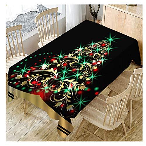 Staron  Christmas Tablecloth for Rectangle Tables - 2018 Rectangle Christmas Trees Pattern Tablecloths Fabric Holiday Table Cloth Xmas Rectangle Table Covers Decor Tablecloth ()