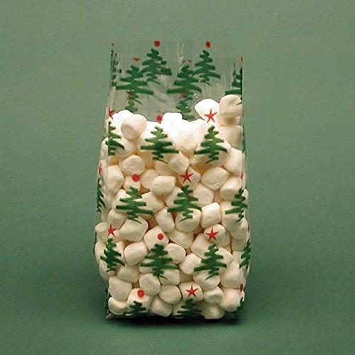 Christmas Cello Bags Cellophane (Christmas Tree Cellophane Bags, Pack of 25 Great for Christmas and the Holidays!)