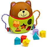Playkidz Super Durable Bear Shape Sorter Pull Along Different shapes blogs for kids