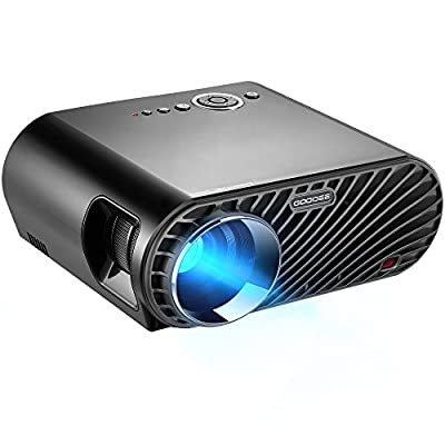 """GooDee 3600 Lumens HD Video Projector 180"""" LCD Movie Projector with 1280x800 Native Resolution Support 1080P HDMI VGA AV USB with Free HDMI Cable"""