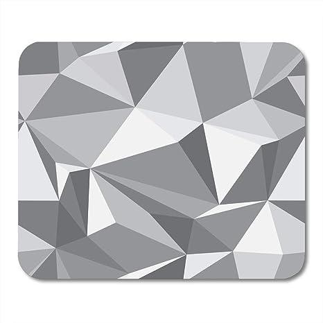 Amazon com : VANKINE Mouse Pads Gray Shape Diamond Geometric