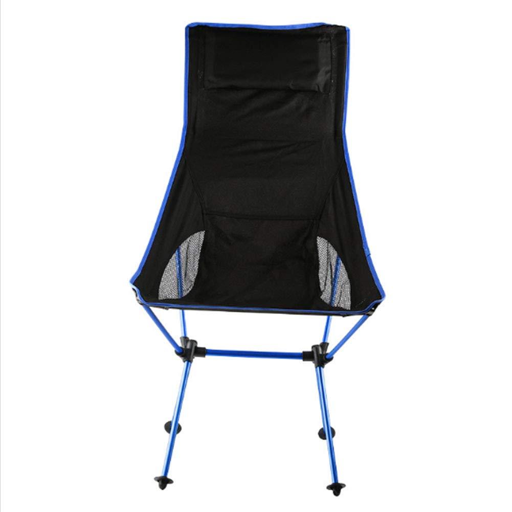 KKQ Outdoor-Klappstuhl Tragbare Freizeit Stuhl Aviation Aluminiumlegierung 7075 Camping Angeln Stuhl Mit Kopfstütze Klappsitz