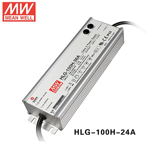 MEAN WELL HLG-100H-24A 96W 24V 4A Waterproof adjustable mean well LED Street Light Power Supply by MEAN WELL