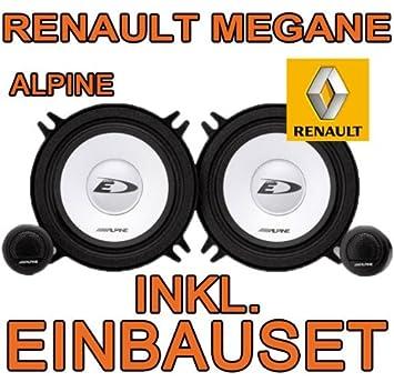 Renault Megane 1 – Altavoz VO + Hi – Alpine sxe-1350s – 13 cm