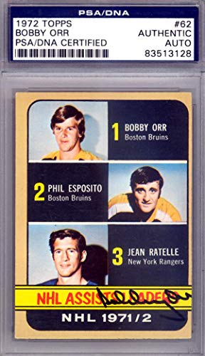 d 1972 Topps Card #62 Boston Bruins #83513128 - PSA/DNA Certified - Hockey Slabbed Autographed Cards ()