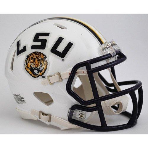 (New Riddell Louisiana State LSU Tigers White Speed Mini Football Helmet)