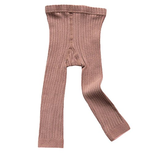 Birdfly Toddler Baby Basic Ribbed Leggings Footless Tights Kids Little Girls Dress Bottom Pants(0-1T, Pink)