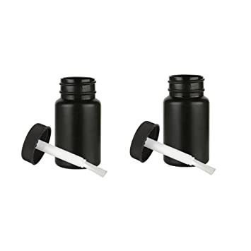 2 vacío botellas de plástico cepillo aplicador Cap artes manualidades pintura tarro recipiente 2oz