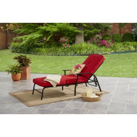 Mainstays Belden Park Cushion Lounge – Red For Sale