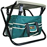 7 Piece All-In-One Premium Garden Tool Set,Heavy Duty Folding Stool, detachable Canvas Tool Bag and Heavy Duty Steel Tools