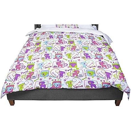 KESS InHouse Julia Grifol My Loving Dogs Twin Comforter 68 X 88