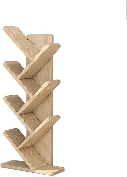 Tree Bookshelf Literature Organisers Wooden Shelves 5 7 Tier Floor
