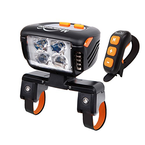 Magicshine Eagle F3 Bike Front Light for Serious Mountain Bikers, 3000 Lumens Actual Output | Headlight 4×CREE XM-L2 LED | Remote Control Review