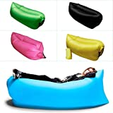 Buyerzone Outdoor Inflatable Hangout Portable Bag Lounger Nylon Fabric Suitable For Camping Beach Couch Inflatable Lazy Sofa