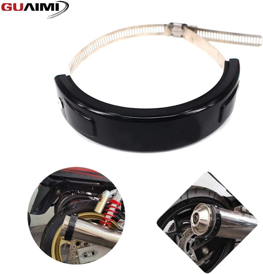 GUAIMI Universal Exhaust Protector Slider 100mm-140mm Round//Oval Can Cover for Akrapovic Exhaust