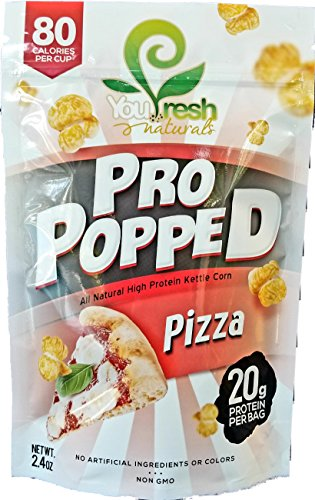 Dessert Protein Fresh Cinnamon Roll (You Fresh Naturals - Pizza Pro Popped - High Protein (20 grams per bag) Gluten-Free Popcorn Snack - Easy Prepare - 4 pack)