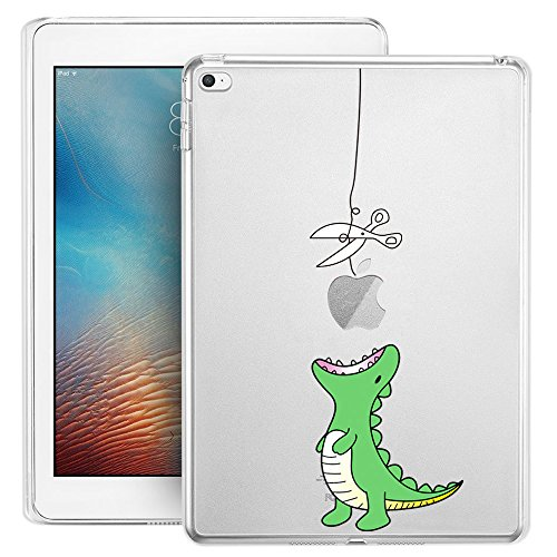 iPad Mini 4 Case, iPad Mini 4 Soft Clear Case, Doramifer Funny Series Protective Case [Anti-Slip] [Good Grip] [Ultra Thin] with Aesthetic 3D Print Soft Back Cover for iPad Mini 4 (Little Dinosaur)