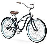 sixthreezero Women's 1-Speed 26-Inch Beach Cruiser Bicycle, Classic Dark Blue