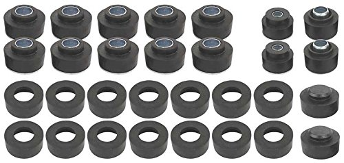68-72 Chevelle Cutlass Convertible Body & Radiator Support Bushing Set with Hardware