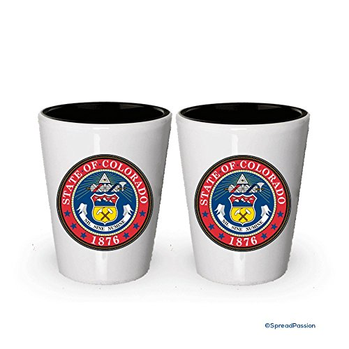 The state seal of Colorado Shot glass - Gifts for Colorado People (2)