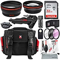 58MM HD 2.2x Telephoto and 0.43X Wide Angle + Xpix Photo Accessories w/ Deluxe Photo and Travel Bag for CANON REBEL ( T6 T6s T6i T5i T4i T3i T3 T2i T1i), EOS (700D 650D 600D 1100D 550D 500D 100D)