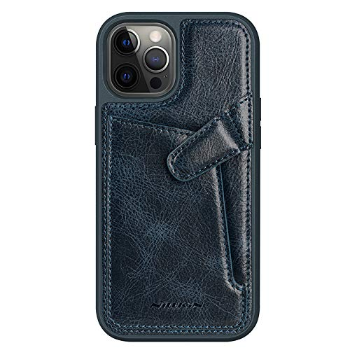 Nillkin Case for Apple iPhone 12 / Apple iPhone 12 Pro (6.1″ Inch) Aoge Leather 360 Protection Elite Business Case with Soft Microfiber Lining & Internal Card Slot Blue