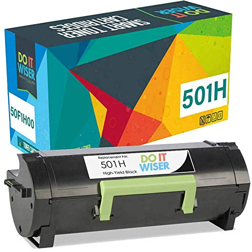 Do it Wiser Compatible Toner Replacement for Lexmark 50F1H00 501H Lexmark MS312dn MS610dn MS310 MS510dn MS415dn MS310dn MS310d MS315dn MS410d MS410dn MS610de (5,000 Pages High Yield)
