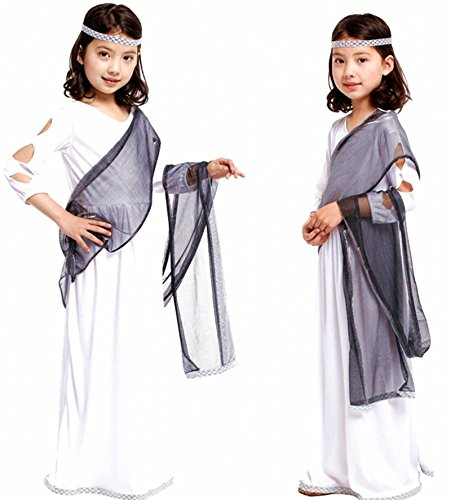 Children's Halloween Costume Sets, Deluxe Halloween Cosplay Costume for Girls, Princess Costume for Toddler, Fancy Dress for Costume Ball (XL Size, Roman Princess (Roman Princess Child Costume)