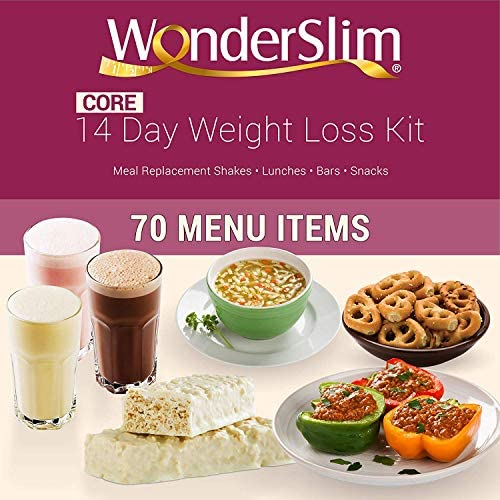 WonderSlim Core 2 Week Diet Kit – Complete Weight Loss Package – Meal Replacements, Protein Supplements, Snacks and Lifestyle Guide 1
