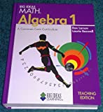 Big Ideas Math Algebra 1 Teaching Edition, HOLT MCDOUGAL, 1608403106