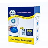Neatforbaby Diaper Pail Refill Bags Fully Compatible with Arm&Hammer Disposal System (32 Bags)
