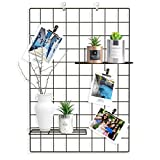 Wall Grid Panel Set of 2, Grid Mesh Display Panel Decorative Iron Rack
