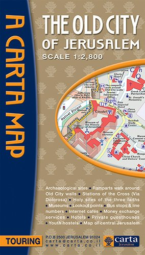 Carta Map The Old City of Jerusalem