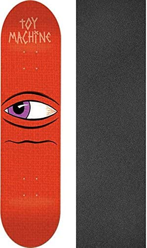 7.87 x 31.125 with Mob Grip Perforated Black Griptape Bundle of 2 Items Toy Machine Skateboards Side Eye Skateboard Deck