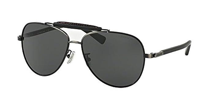 1d69d284c7 ... 926411 silver metal aviator sunglasses f6a2f 2831c usa coach mens  hc7057q sunglasses antique silver matte black grey solid 59mm 067cd 52cc4  ...