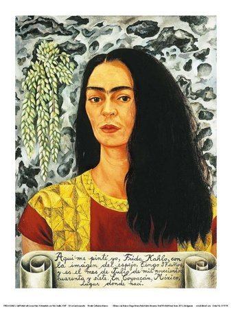 Self-Portait with Loose Hair, c.1947 Art Poster Print by Frida Kahlo, - Frida C