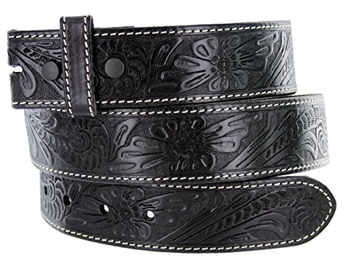 Western Floral Engraved Tooled Leather