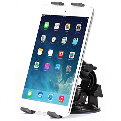 Car Mount Dash and Windshield Tablet Holder Swivel Cradle Window Glass Dock Strong Suction for Samsung Series 7 Slate (11.6) - Sony Xperia Z4 Tablet - US Cellular LG G Pad 7.0