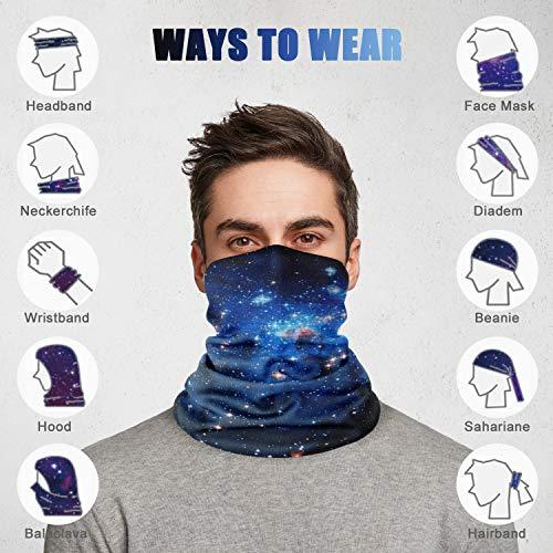 Seahouse 8Pcs Bandanas Face Seamless Neck Gaiter Scarf Tube Headwear Balaclava for Unisex Men Women Outdoors Sports