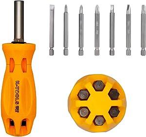 Screwdriver Multitool - 7 in 1 Bit Multi Tool Multi-bit Screwdriver Multi-function Magnetic Professional Multi-tool Repair Tool