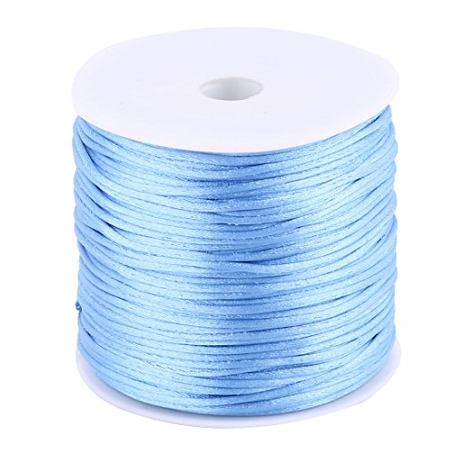 uxcell Nylon Handmade DIY Knit Ornament Bracelet Necklace Cord 1.5mm Dia 78.7 Yards Light Blue