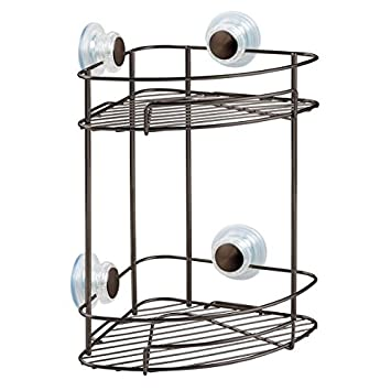 Amazon.com: InterDesign Turn-N-Lock Suction Bathroom Shower Caddy 2 ...