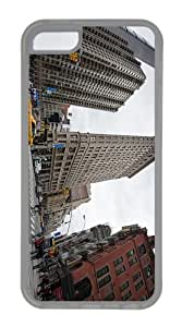 indestructible cases 5th avenue and broadway New York City TPU Transparent Case for iphone 5C