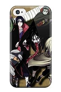 Hot EqIFkUb8600XpmIS Naruto Akatsuki Manga Tpu Case Cover Compatible With Iphone 4/4s