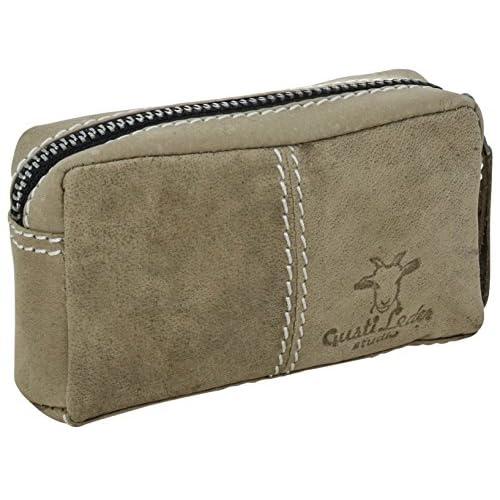 """Gusti Cuir studio """"Butler"""" trousse pour clés porte-clés pochette pour clés étui à clés homme femme cuir de buffle vert olive 2A66-22-11"""
