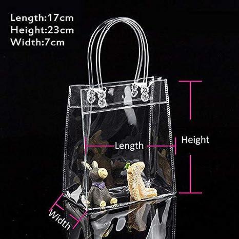 Tracolla da toilette a mano in PVC trasparente, ampia borsa da viaggio impermeabile trasparente da viaggio, borsa da viaggio per il trucco, borsa shopping natalizia SINOTECHQIN