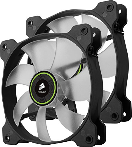 Corsair  Air Series SP 120 LED Green High Static Pressure Fan Cooling - twin pack by Corsair (Image #1)