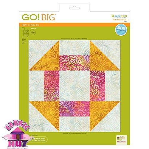 GO! Big 12'' Churn Dash Fabric Cutting Die by Fabric Hut