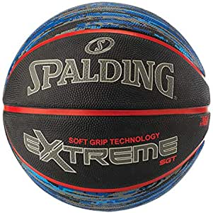 Spalding Unisex Adult NBA Extreme Sgt Rubber Basketball - Gary/Red, Size 7